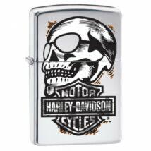 29281 Zippo Öngyújtó, Polírozott króm- Harley Davidson