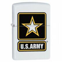 29389 Zippo öngyújtó matt fehér színben - US ARMY logó