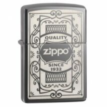 29425 Zippo öngyújtó, Black ice színben - Zippo logó