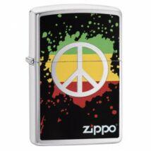 29606 Zippo öngyújtó, Csiszolt Króm színű - Peace
