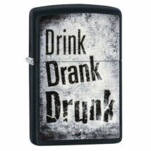 29618 Zippo öngyújtó matt fekete - Meg kell inni