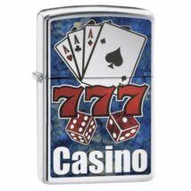 29633 Zippo öngyújtó, Polírozott Króm színű - Casino