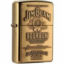 254bjb929 Zippo öngyújtó, arany színben, Jim Beam emblémával