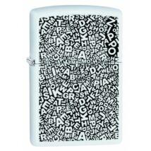 49213 Zippo öngyújtó Matt fehér színben festett minta, Zippo logó