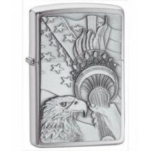 20895 Zippo öngyújtó, csiszolt ezüst színben - Amerika szimbólumai