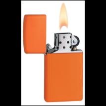 1631 Zippo öngyújtó, narancssárga színben, vékony