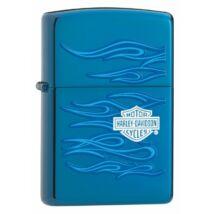 20711 Zippo öngyújtó, fényes kék színben, Harley-Davidson