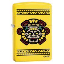 49020z Zippo öngyújtó citromsárga színben, Mayans MC logóval díszítve