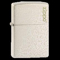 49181ZL Zippo öngyújtó matt fehérszínben -Üveg minta Zippo logóval