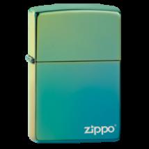 49191ZL Zippo öngyújtó zöldeskék színben - Zippo logóval