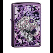 49159 Zippo öngyújtó Fényes lila színben, Koponya ábrázolással