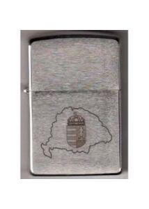 200 HUN 9 Zippo öngyújtó, Nagy Magyarország térképében Címerrel