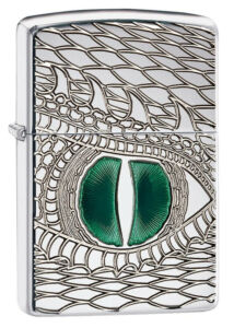 28807 Zippo öngyújtó Armor Dragon Eye Polished Chrome
