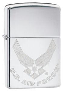 29887 Zippo öngyújtó, fényes ezüst színben, USA Airforce