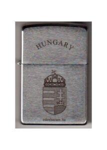 200 HUN 6 Zippo öngyújtó, Hungary felirattal és Magyar címerrel díszítve