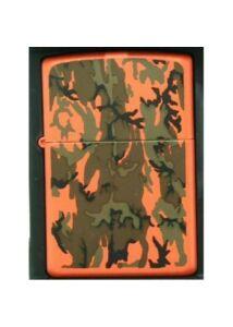 20210 Zippo öngyújtó, narancssárga színben - Mintákkal díszítve