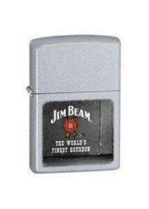 21018 Zippo öngyújtó, finoman csiszolt ezüst színben - JIM BEAM