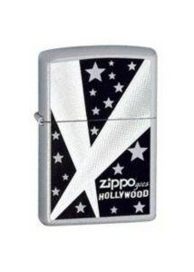 24324 Zippo öngyújtó, csiszolt ezüst színben logóval - HOLLYWOOD