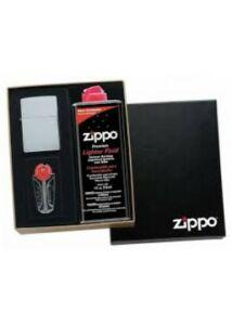 50DR Zippo díszdoboz , öngyújtó hellyel + benzin hellyel + tűzkő