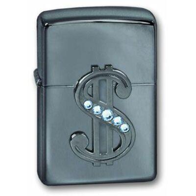 20929 Zippo öngyújtó, fényes ezüst színben -Ice Emblem