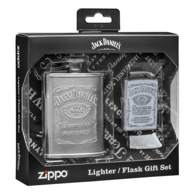 49349 Zippo Jack Daniels flaska és öngyújtó ajándékkészlet