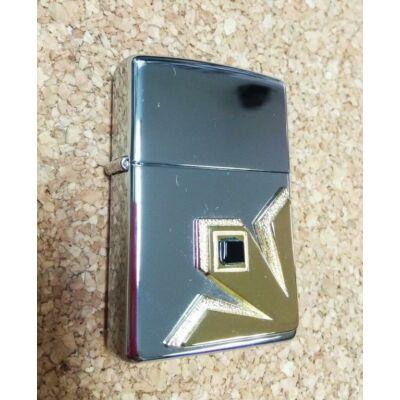 655 Zippo öngyújtó fényes ezüst színben -Desert Star