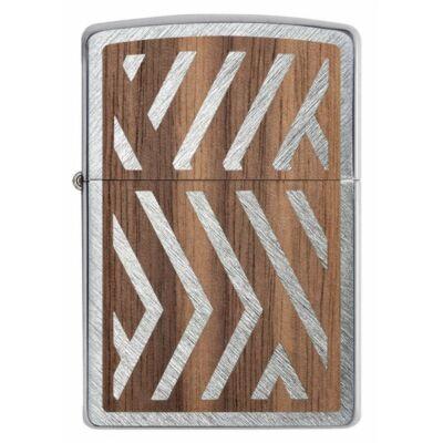 29902 Zippo öngyújtó, ezüst színű alapon, fa motívummal -WOODCHUCK