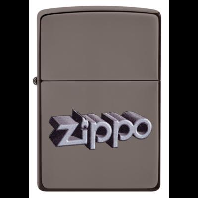 49417 Zippo öngyújtó Black Ice színben - Zippo felirat