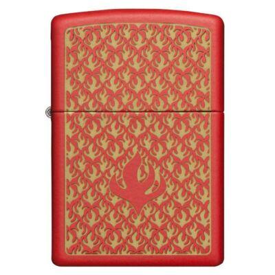 49573 Zippo Öngyújtó piros színben - Mintás díszítés
