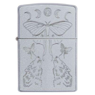 49591 Zippo Öngyújtó ezüst színben - Pillangók farkassal