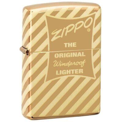 49075 Zippo öngyújtó Magasfényű sárgaréz színben -Vintage Zippo Box Top