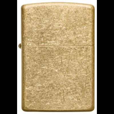 49477 Zippo öngyújtó Koptatott sárgaréz színben -Tumbled Brass