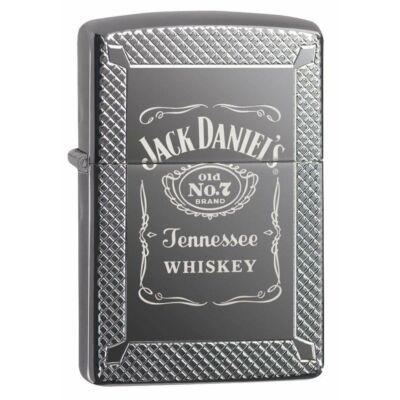 49040 Zippo öngyújtó Black Ice színben - Jack Daniels