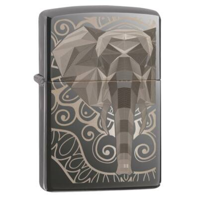 49074 Zippo öngyújtó, Black Ice színben - Elefánt