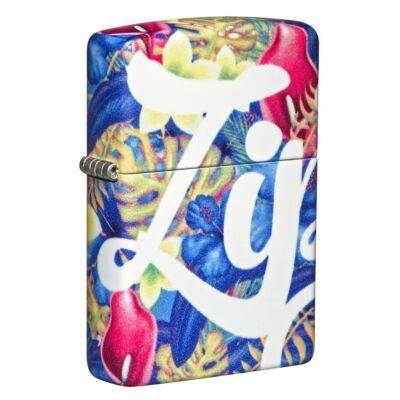 49436 Zippo öngyújtó -Trópusi virágok, Zippo logó