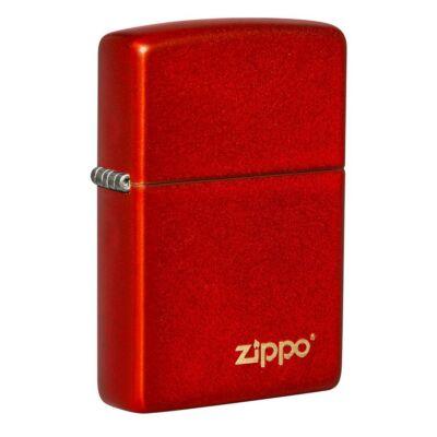 49475ZL Zippo öngyújtó metál vörös színben -Zippo logó