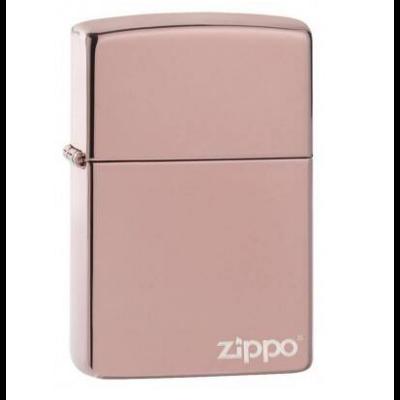 49190ZL Zippo öngyújtó rose gold króm színben - Zippo logóval