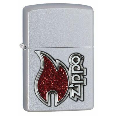 28847 Zippo öngyújtó Selyemfényű króm színű, Zippo logó & láng