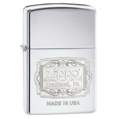 29521 Zippo öngyújtó, fényes ezüst színben- Bradford