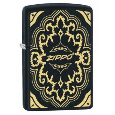 29703 Zippo öngyújtó, Matt fekete - Zippo logóval