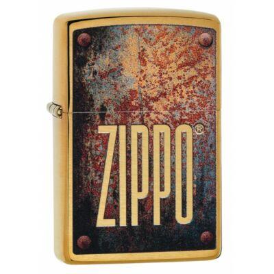 29879 Zippo öngyújtó, arany színben, zippo logóval