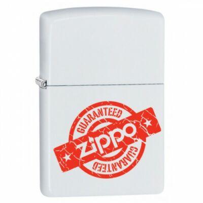 405154 Zippo öngyújtó Matt fehér - Zippo logó