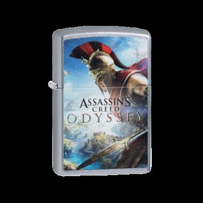 49083 Zippo benzines öngyújtó, utcai csiszolt kivitelben,Assassin's Creed mintával