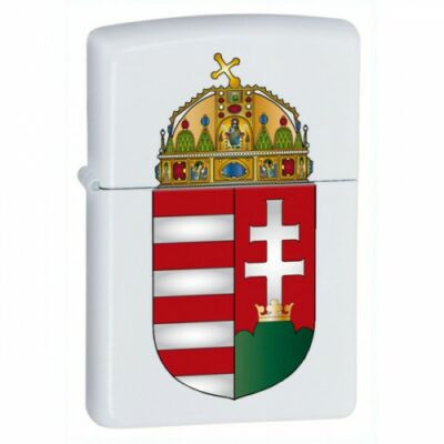 M214 Coat of Arms Zippo öngyújtó Matt fehér - Magyar címer