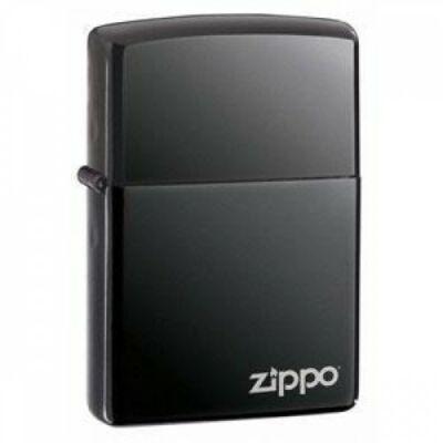 150ZL Zippo öngyújtó, black ice színben logóval