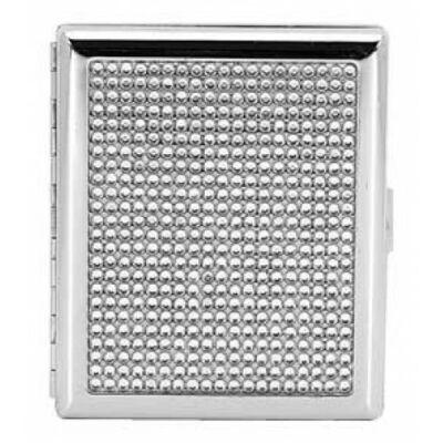 15569 Cigaretta tárca díszítéssel, fém - 20 szál cigarettához