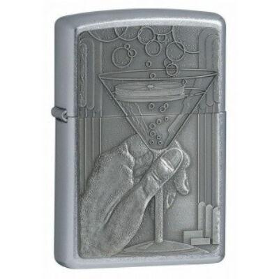 20587 Zippo öngyújtó, ezüst színben - Koktélos pohár