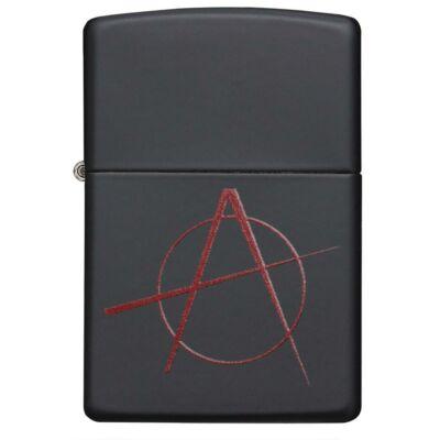 20842 Zippo öngyújtó, matt fekete színben -Anarchy