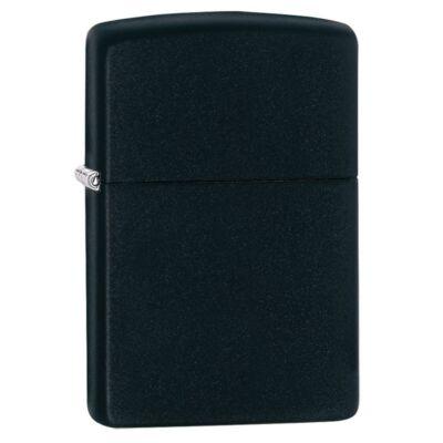 218 Zippo öngyújtó, matt fekete színben, gravírozható