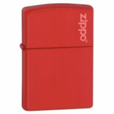 233ZL Zippo öngyújtó, matt piros színben logóval
